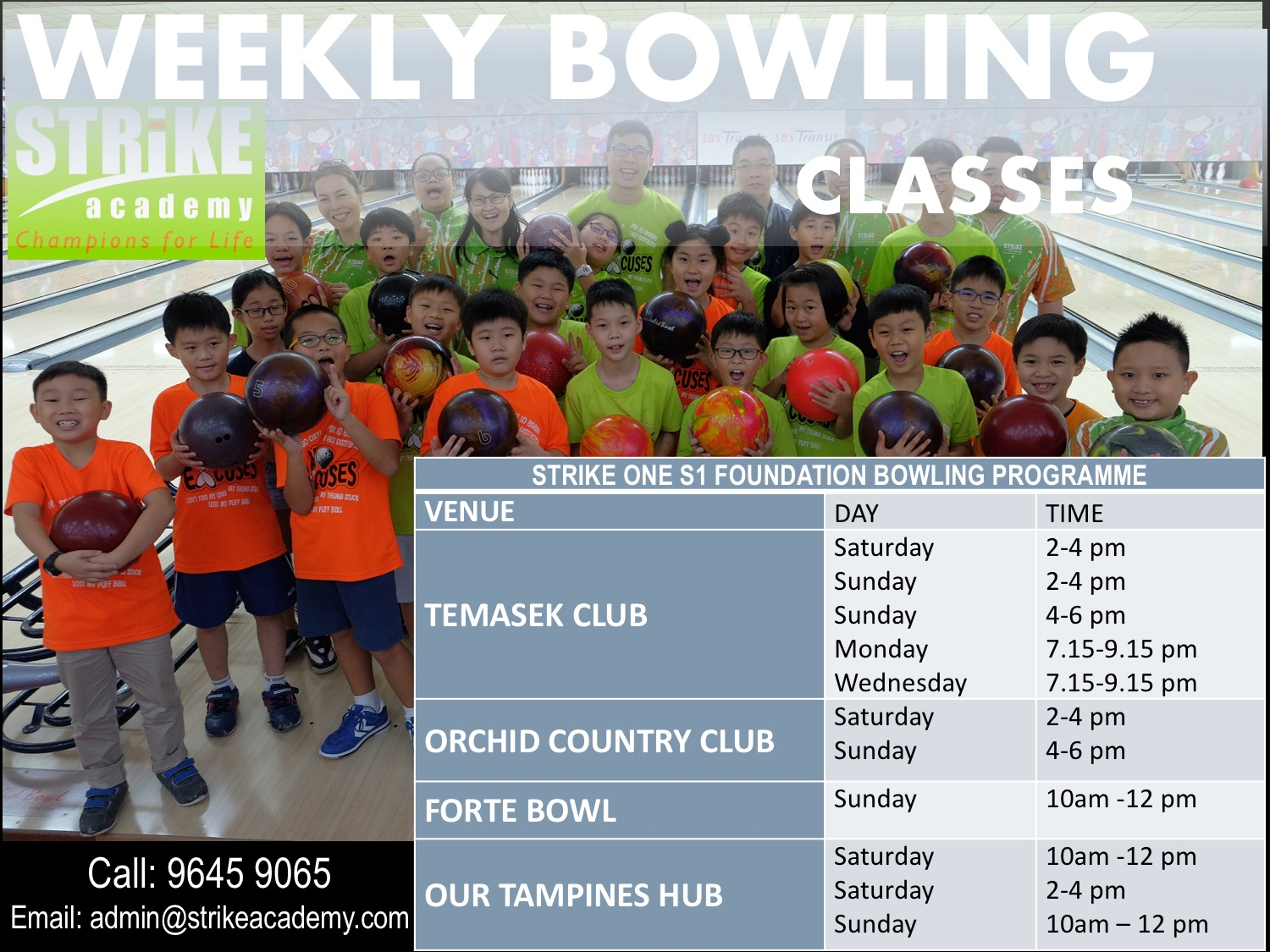 bowling lessons for kids and children bowling coaches singapore